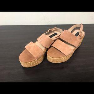 Steve Madden Leather Sandals Size 7